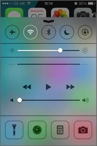 Swipe-Up Control Panel